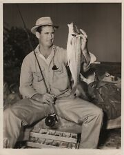 Ted Williams 1950 Type 1 Original Photograph - Beautiful Fly Rod Bonefish Catch
