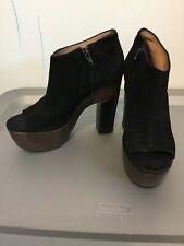 Women's Lita Shoes Ankle Boots Platform Black Color