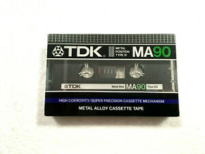 TDK MA 90 vintage audio cassette blank tape sealed Made in Japan Type IV ver 5