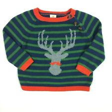 Nordstrom Tucker + Tate Sweater Boy 6 months Cashmere Reindeer Holiday Christmas