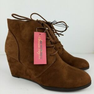American Rag Baylie Booties Women Size 10 Chestnut Lace Up