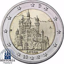 SERRATURA neuschwans Tein 2 Euro Germania 2012 Banca freschi Baviera MZZ a