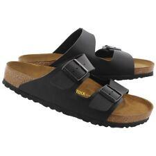 Birkenstock Arizona Birko Flor Black Sandal Sz 42 New!