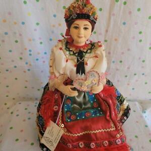 Vintage Souvenir Folk Cloth Doll- HUNGARIAN Eastern European-BEAUTIFUL