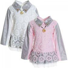Markenlose knielange Langarm Mädchenkleider für Party-Anlässe