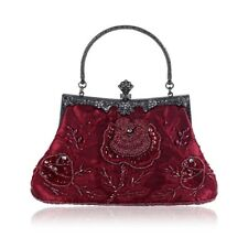 f01f1639e1 Vintage Style Beaded Floral Evening Clutch Bag Wedding Party Prom Purse  Handbag