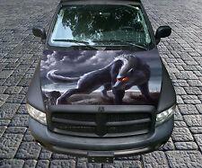 H97 WOLF Hood Wrap Wraps Fiber Decal Sticker Tint Vinyl Image Graphic Carbon
