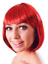 Ladies Red Elegant 20s Flapper Style Short Bob Wig Fancy Dress Accessory New