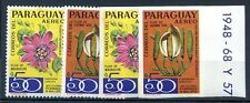 PARAGUAY - FLOWERS 5 Uncatalogud Compl Sets Perforated & Imperforate, MH, VF