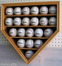 ULTRA Clear 21 Baseball display Case Cabinet Wall Shadow Box UV Protection Oak