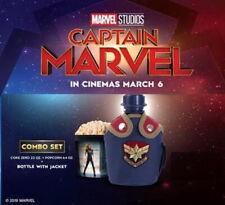 Cool.. Captain Marvel Movie Bottle with Jacket Popcorn Bucket Thailand Combo Set