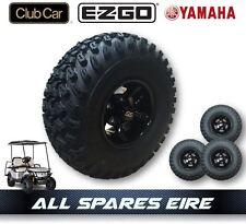 "GOLF CART BUGGY 10"" ALLOY WHEEL SET OF 4 -  FITS CLUB CAR YAMAHA EZGO 22x11-10"
