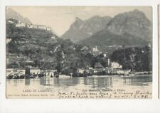 Lago Di Lugano San Mamette Castello e Drano 1904 U/B Postcard 388a