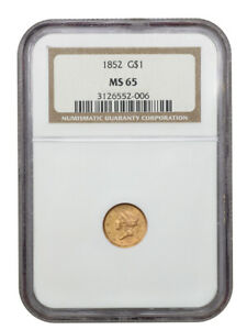 1852 G$1 NGC MS65 - 1 Gold Coin