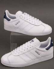 ADIDAS GAZELLE WHITE LEATHER MENS TRAINERS