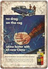 "Johnson's Car Wax Carnu Vintage Auto Ad 10"" x 7"" Reproduction Metal Sign A209"