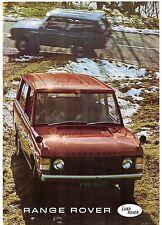 Range Rover 3.5 V8 3-dr 1970-72 UK Market Sales Brochure