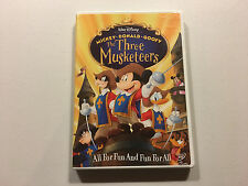 Walt Disney The Three Musketeers DVD Widescreen Mickey Donald Goofy Great!