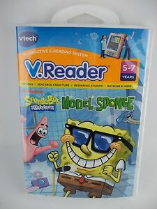 NEW Vtech VReader Learning Game Cartridge Spongebob Squarepants Model Sponge
