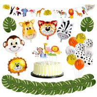 Jungle Animals Balloons Set Latex Foil Balloon Children Birthday Part Decor