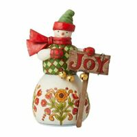 """Jim Shore Snowman with Sign """"Joy Found Here"""" Country Living Collection 6007447"""