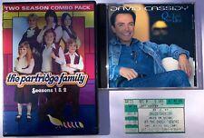 David Cassidy Partridge Family lot: concert ticket, DVD, CD