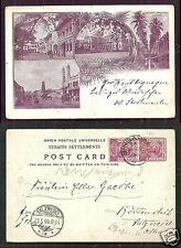 Gruss Singapore Art Nouveau Straits Settlements stamps 1898