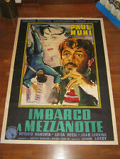 Manifesto,1952 Imbarco a mezzanotte,Stranger on the Prowl,Losey,Paul Muni,Brini