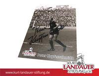 Autogrammkarte Peter Kupferschmidt – Kurt Landauer Stiftung – FC Bayern München