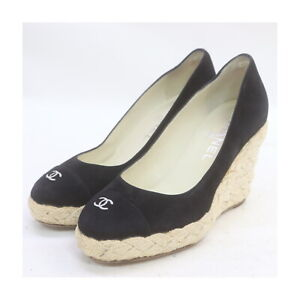 Chanel Casual Shoes   Women  Black Suede 1519343