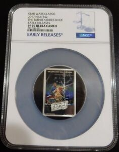 2017 STAR WARS THE EMPIRE STRIKES BACK POSTER COIN - EARLY RELEASES NGC PF70 !!!