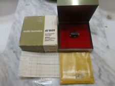 AUDIO TECHNICA AT15SS CARTRIDGE AND GENUINE ATN15SS SHIBATA CD4 STYLUS IN CASE