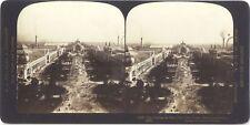Champs de Mars Exposition universelle de Paris 1900 Photo Stereo Vintage