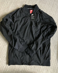 Mens Nike Tech Pack Hypermesh Varsity Jacket Black Size Medium S 832190
