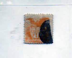 us scott # 116 10c yellow xf used 1869 G. Grill91/2x91/2