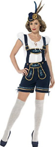 Traditional Deluxe Bavarian Costume, Blue, with Lederhose (UK IMPORT) COST-W NEW