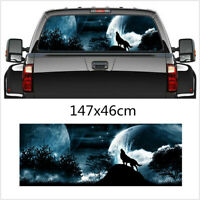 Car Rear Window Tailgate wolf howling Moon Galaxy Sticker Decal for Truck SUV