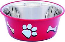 Paw & Bone Cutie Bowls(Red) Dog Bowls Export Quality Inside Stainless Steel Bowl