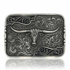 Attitude by Montana Silversmiths Anitqued Longhorn Buckle A828