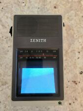 ZENITH Portable/Handheld B&W Television TV UHF/VHF 1985 Model BT044S No Charger!