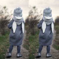 Hot Baby Kids Infant Autumn Winter Hooded Coat Rabbit Jacket Thick Warm Clothes