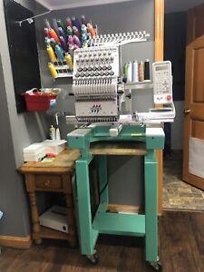 Tajima TEJT-C1501 Single Head Commercial Embroidery Machine