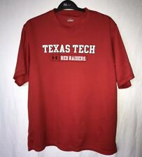 Under Armour Texas Tech Red Raiders Shirt Mens Large Red Short Sleeve Wreck Em L