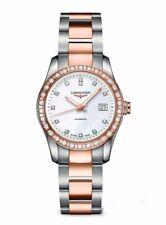 Longines L2.285.5.88.7 Conquest Classic Steel Rose Gold Diamond Women's Watch