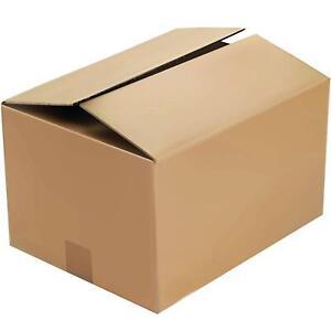 "21x16x12"" Brown Shipping Cardboard Boxes Royal Mail Medium Parcel Size Post Box"