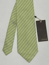 "FÉRAUD GREEN TIE 100% SILK STRIPED 60""/3.5"" EX CONDITION"