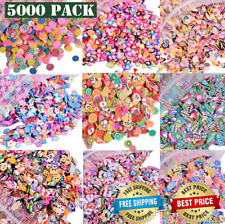 5000 PCS 3D Polymer Fimo Slices DIY Nail Art Slime Supplies Charms Making Kit