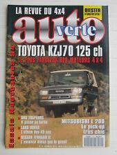 AUTO VERTE 4X4 N° 149 / Toyota KZJ70, 125ch / Mitsubishi L 200/ Terrano II