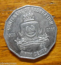 2001 50c Fifty Cent  South Australia (SA) Centenary of Federation Australian 50c