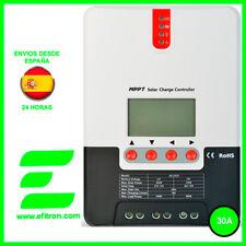 Regulador de carga solar con display MPPT (maximizador) 12/24V.30A. Vmax: 100V.